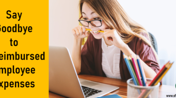 Say Goodbye to Unreimbursed Employee Expenses, SFS Tax, SFS Tax and Accounting Services, Woman biting pencil, yellow pencil, colored pencils, laptop, office window