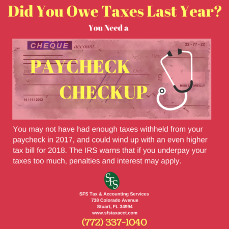 Paycheck Checkup, SFS Tax, paycheck, stethoscope, red background