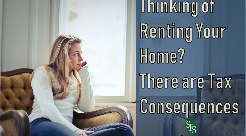 Thinking of Renting Your Home, There are Tax Consequences, SFS Tax, SFS Tax and Accounting, Woman Thinking, Window, Urban Scene, Living Room, Sofa, Chair