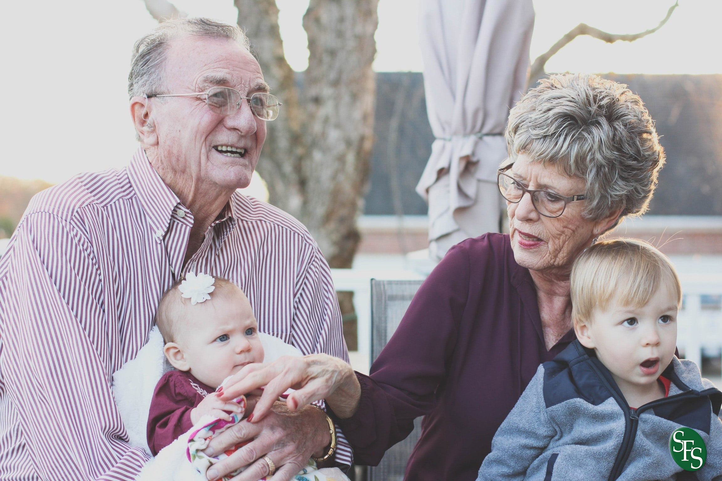 Get Your Refund Faster, family, grandparents, children, sitting