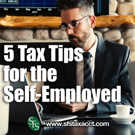 5 Tax Tips for the Self-Employed, man, sitting, typing