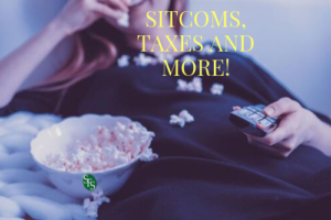 popcorn woman remote Sitcoms-taxes-and-mor