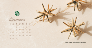 December 2019 calendar- sfs tax problem solutions
