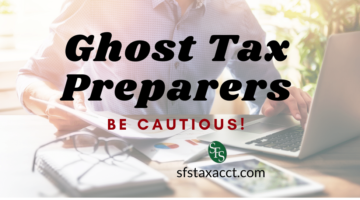faded out image of man at laptop -Ghost Tax Preparers -