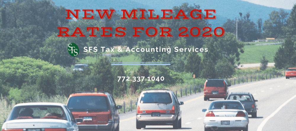 Cars driving down a road -2020 mileage rate - sfs tax &accounting
