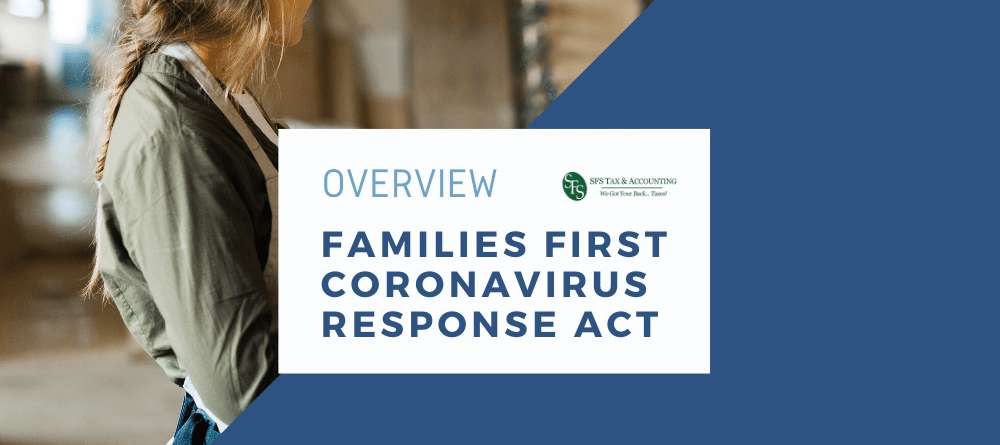 Overview-Families First Coronavirus Response Act - woman wearing apron