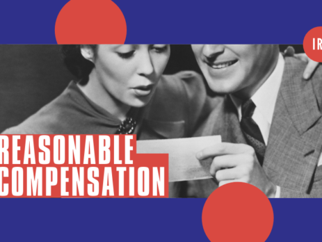 It's your Salary! Reasonable Compensation-mand and woman looking at paycheck