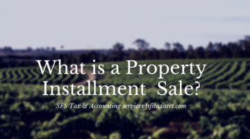 What is a Property Installment Sale. Image of vineyard